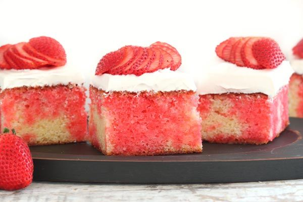 Strawberry Poke Cake from Roxana's Home Baking on Imperial Sugar
