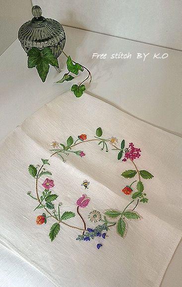 4月の刺繍教室☆その2 の画像|Nui nui 生活 in TOKYO. Flower embroidery
