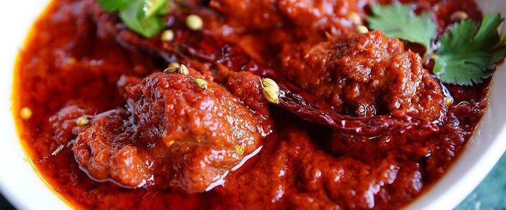 Laal Maas- a fiery hot mutton dish.