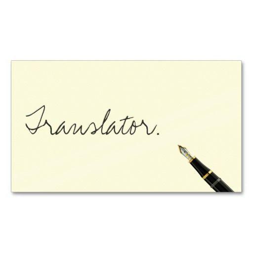207 best translator business cards images on pinterest business free handwriting script translator business card colourmoves