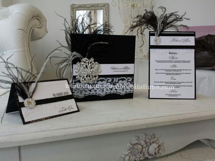 Great Gatsby Invitations Luxury Wedding Handmade Stationary, A Set Of 100 Invitations by luxuryweddinvitation on Etsy https://www.etsy.com/listing/229180332/great-gatsby-invitations-luxury-wedding
