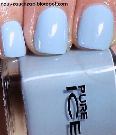Pure Ice Nail Polish~BIKINI~Creme Sky Blue~Walmart~Cheap Nail Polish