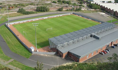 Strathclyde Homes stadium, home to Dumbarton FC, formally known as Boghead Park.