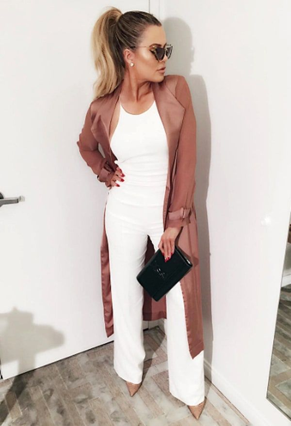 Khloe Kardashian chose a sexy white jumpsuit to wear for a reunion with her ex French Montana at The Nice Guy in West Hollywood on Feb. 8