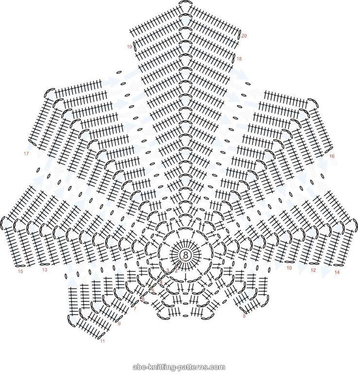 1/2  Tapete con forma de hoja -- leaf-crochet-pattern.jpg 1,110×1,162 píxeles