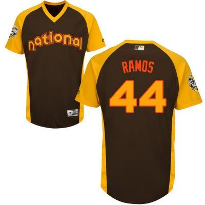 Men's National League Miami Marlins #44 A. J. Ramos Brown 2016 MLB All-Star Cool Base Collection Jersey
