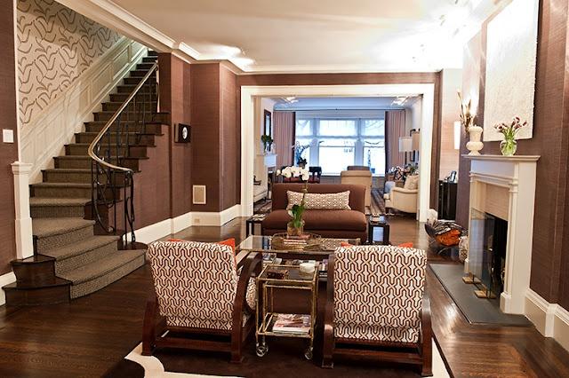 Interior design by Christina Murphy.Living Spaces, Floors Colors, Interiors Design, Living Room, Chocolates Brown, Club Chairs, Murphy Interiors, Design Blog, Christina Murphy