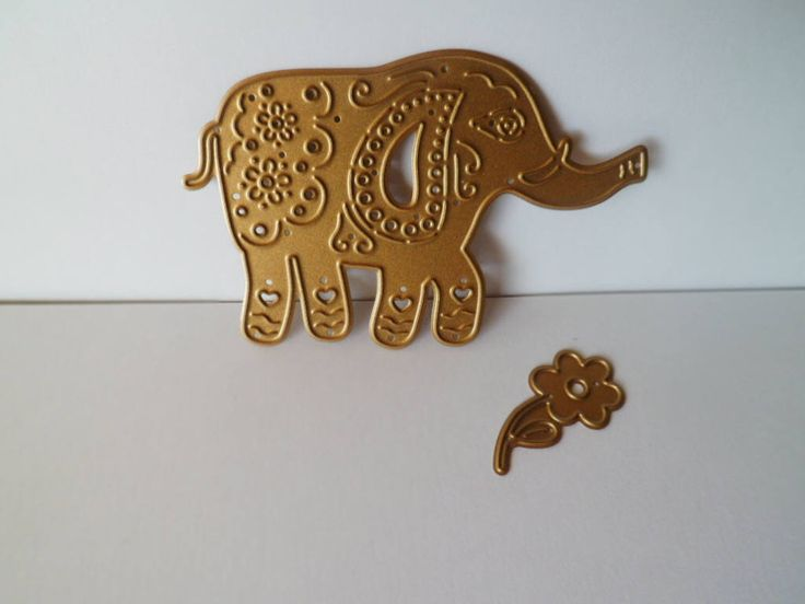 Excited to share the latest addition to my #etsy shop: Metal Die Cut, Elephant die cut, Cutting Die of Elephant, Elephant and Flower Die Cut, DIY projects #kidscrafts #metaldiecuts #elephantdiecut #cuttingdie #circuselephant