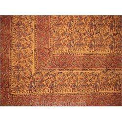 Hand Block Print Indian Tapestry Bedspread Multi Use Flamenco Twin