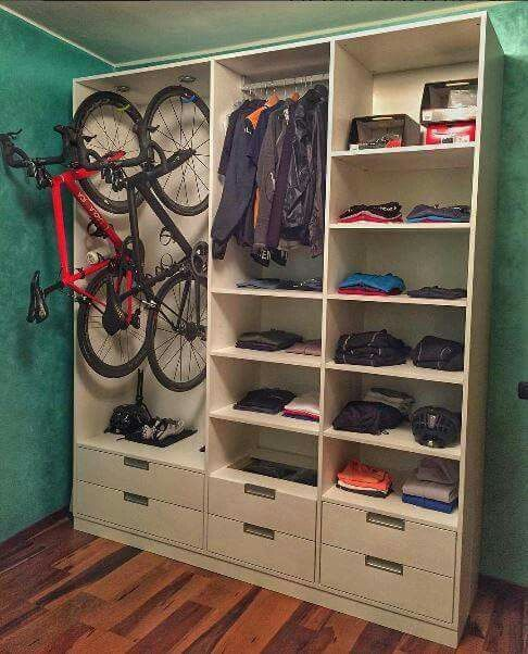 A proper way to store your bikes and cycling gear.