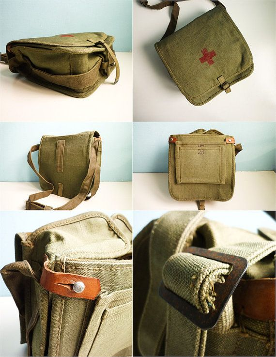 Vintage 1937 Red Cross Medical Bag Military by EuroVintage on Etsy, €59.00