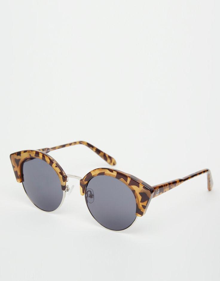 Lunettes de soleil vintage des années 60 dans un style branché avec la mode des temples métalliques couleur bronze lunettes tendances 2014 (imprimé léopard) E6XVpnt7