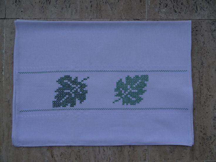 Cross-stitch leaves!