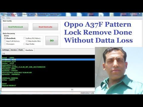 Oppo A37F Pattern Lock Remove Done Without Datta Loss   How To Learn