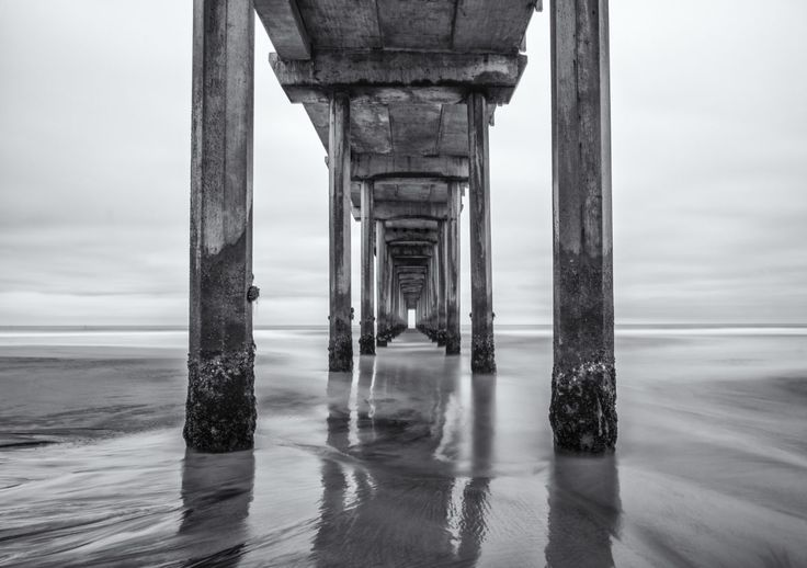 FINEARTSEEN - Barnacles by Joseph Giacalone. A stunning black and white fine art photograph of a pier off the coastline of California. This print comes on aluminium and is ready to hang. Limited edition print of 50. Available on FineArtSeen - The Home Of Original Art. << Pin For Later >>