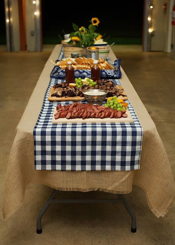 What a great idea for summer to do a barbecue buffet!
