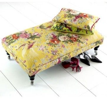 Custom Fabric Coffee Table Stool eclectic ottomans and cubes