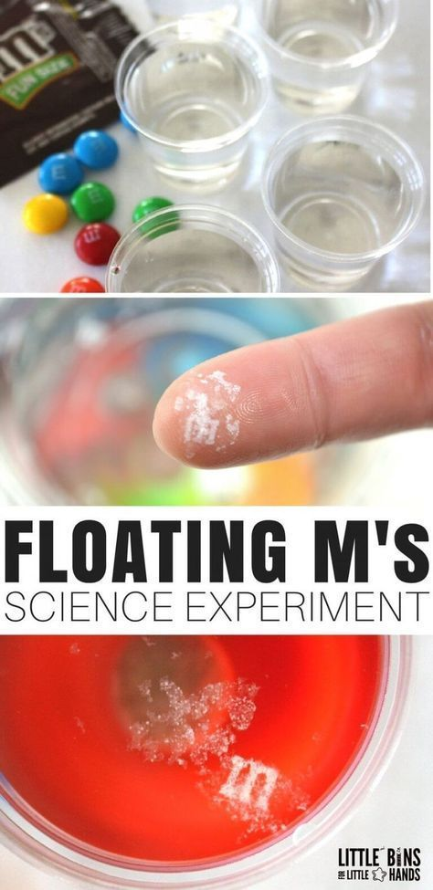 The floating M candy science experiment is easy, quick, and pretty cool! We went... 2