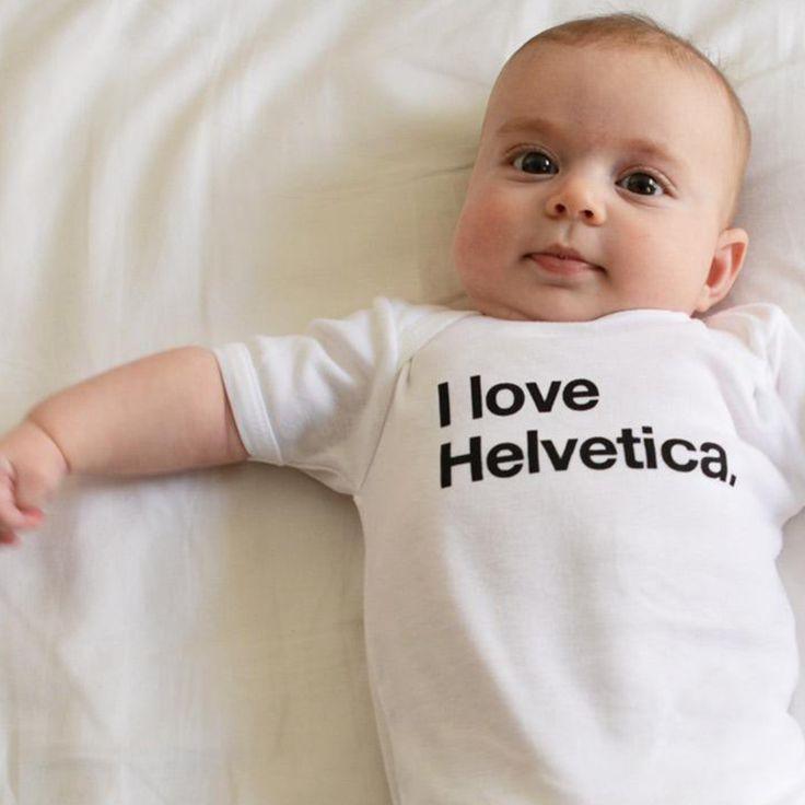 I Love Helvetica Onesie