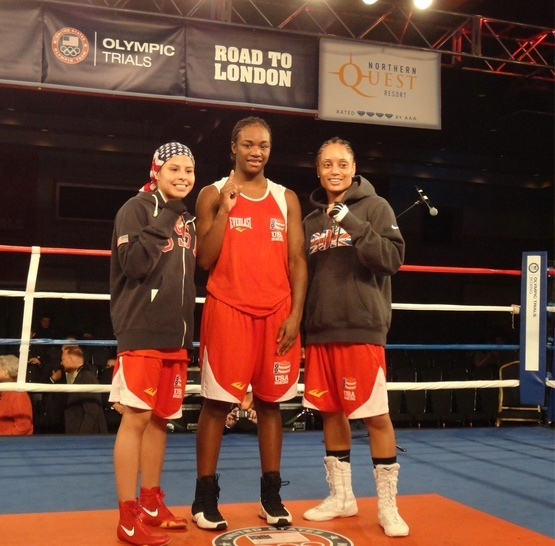 USA women's Olympics boxing team. Marlen Esparza, Clarissa Shields, and Queen Underwood