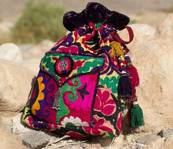 SUZANI Bohemian Gypsy Ethnic Back Pack  by BohemianSpiritBags, $470.00 (but it wouldn't make me happy to spend that much on a bag ...)
