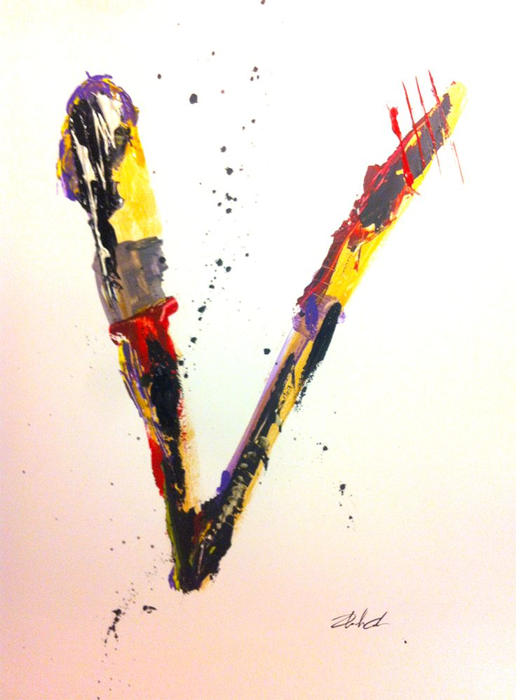 #V it's my artwork to celebrate the human V that next 11S2014 we will build in Barcelona to claim the right of catalan people to vote to choose being a new state in Europe.