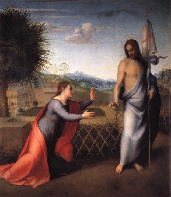Andrea del Sarto. Noli me tangere. oil on canvas, 1510, Uffizi, Florence