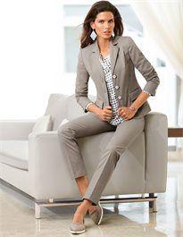Businessblazer aus Pima Cotton-Stretch #madeleinefashion