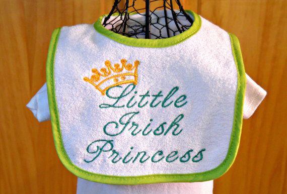 Baby Bib Little Irish Princess Irish Baby by StaziesStitchsNStuff