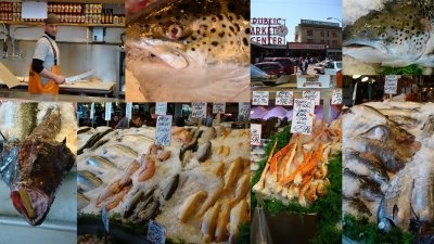 Pikes Place Market Collage in Seattle, WA: Market Collage, Pikes Place, Favorite Places, Pike Place Market