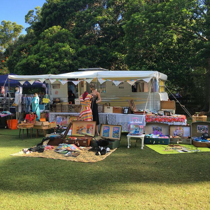 I got a brand new annex, white, lets the light through.... Apollonian Markets, Boreen Point, Sunshine Coast, Queensland, Australia
