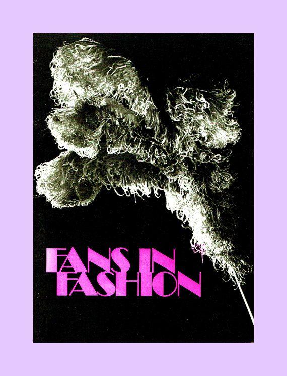 PDF Vintage 1960s 'Fans in Fashion' Book, Digital Art, Paper Ephemera, Victoriana, Collage, Scrap Booking, Vintage Decorating, Collectable
