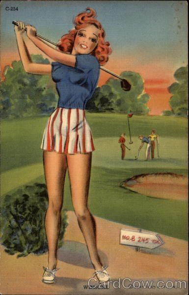 cute golf pin-up