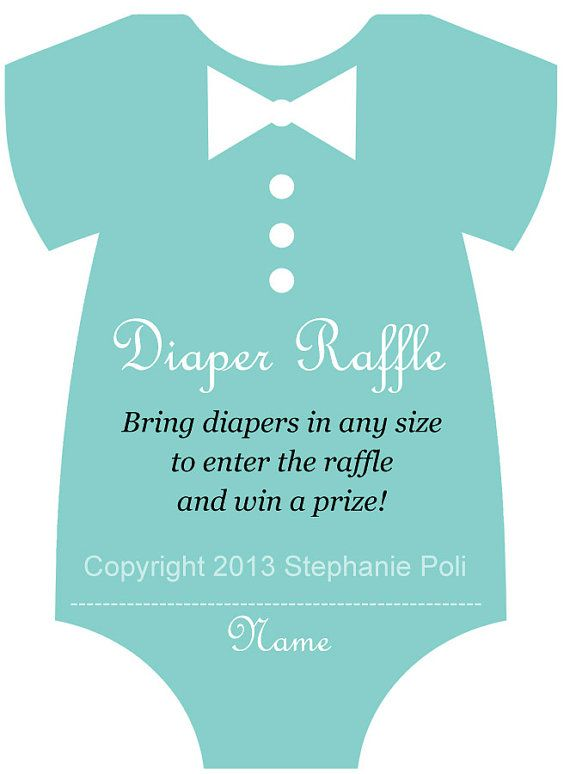 Diaper raffle, Diaper raffle tickets and Raffle tickets on Pinterest