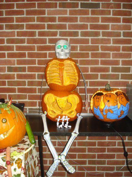 X ray won the pumpkin carving contest halloweenie