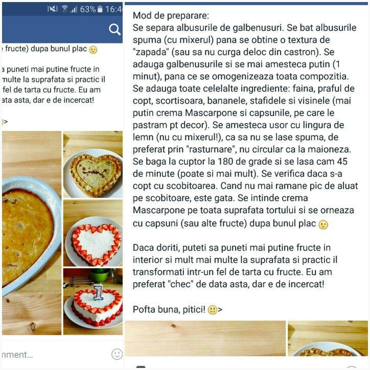 Tort capsuni mascarpone