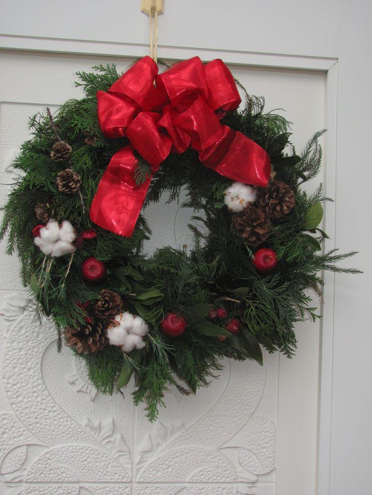 wreath on wife's friend house.