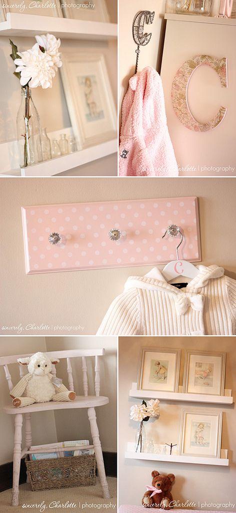 Baby Girl Nursery Decor | Girl Nursery Decorating Ideas - Feminine Nursery