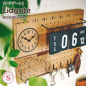 IBplan   Rakuten Global Market: Wall clock antique wall clock wooden wall clock LIDGATE リドゲートウォールクロック wall clock