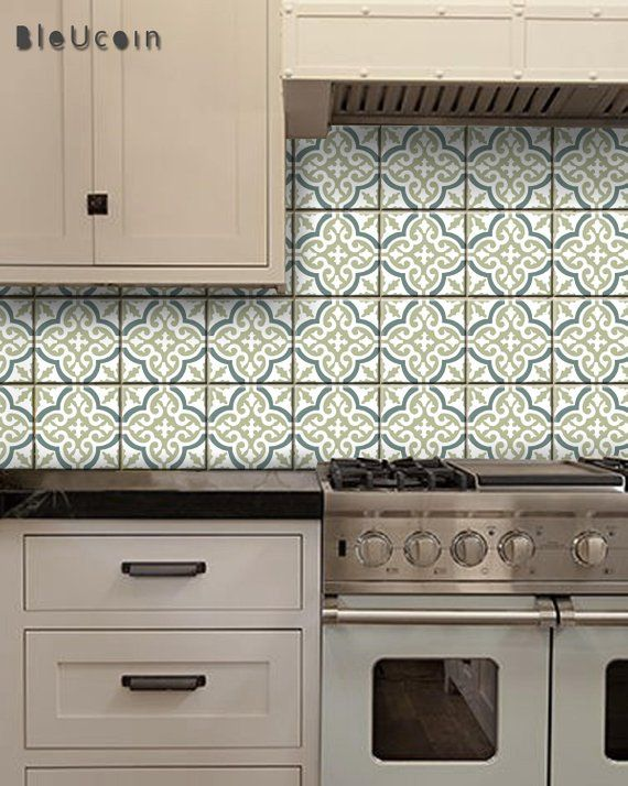 Sea Salt Tile Wall Stair Floor Stickers Removable Kitchen