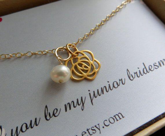 cadeau voor junior bruidsmeisje Sieraden & kaart door thejewelrybar