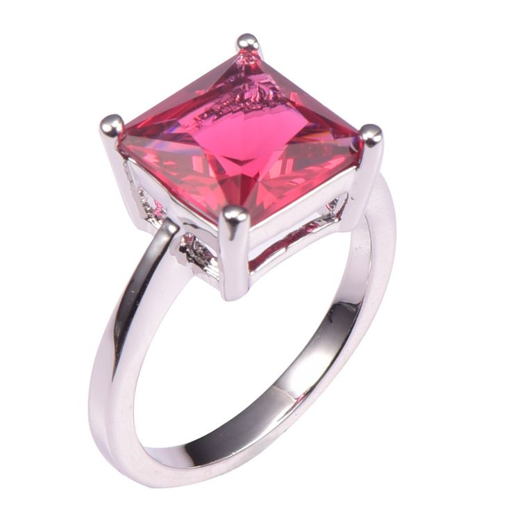 Simulated Ruby 925 Sterling Silver Wedding Party Fashion Design Romantic Ring  Size 5 6 7 8 9 10 11 12 PR42