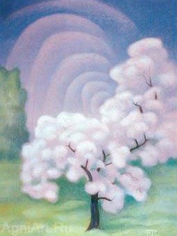 Pink tree by Boris Smirnov Rusetsky