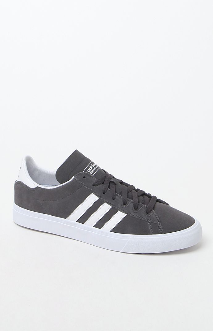 Campus Vulc II Grey & White Shoes · Adidas ...