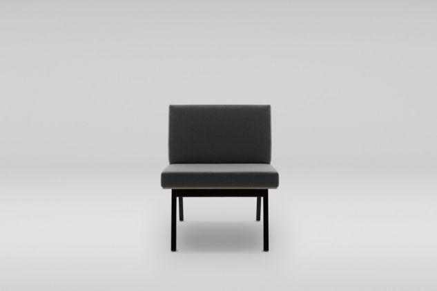 Fotel FIN podstawa drewniana