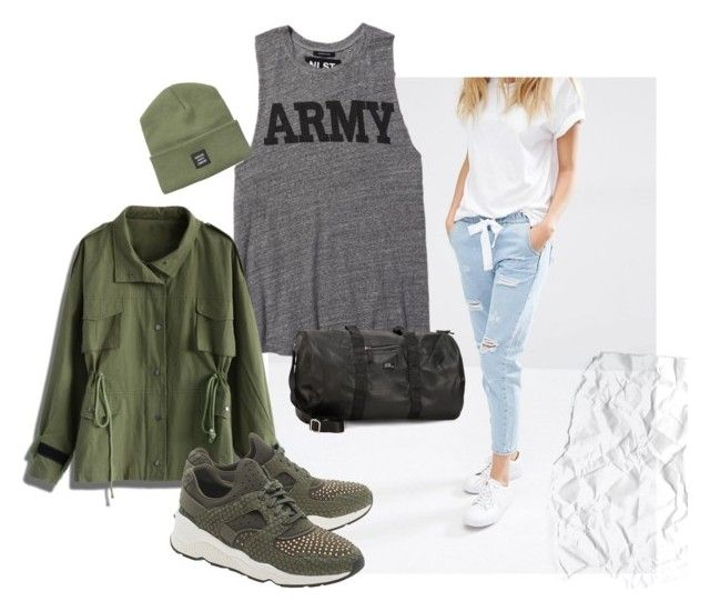 army by consuelo-cardenas on Polyvore featuring moda, Chicwish, MANGO, Ash, Drop Of Mindfulness, Herschel Supply Co. and NLST