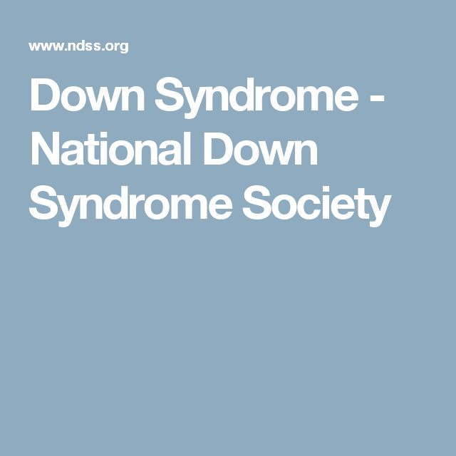 Down Syndrome - National Down Syndrome Society