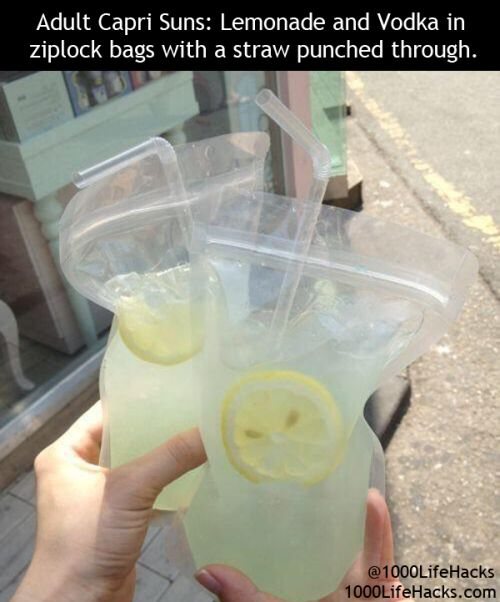 Adult Capri Suns   1000 Life Hacks AND Other amazing PARTY HACKS!
