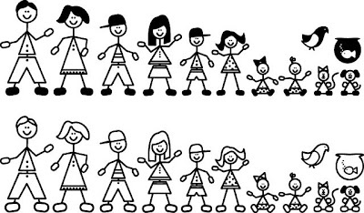 Family stick figures clip art