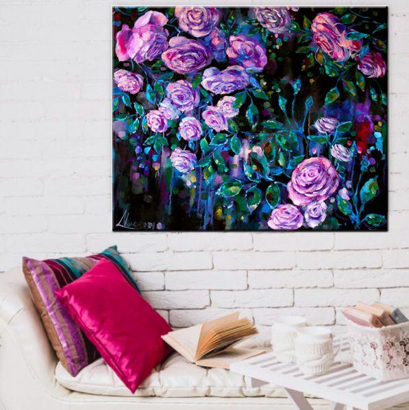 Roses painting, wall art